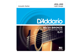 D'Addario EJ11 Bronze Light Acoustic Strings .012-.053