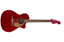 Candy apple red acoustic guitar