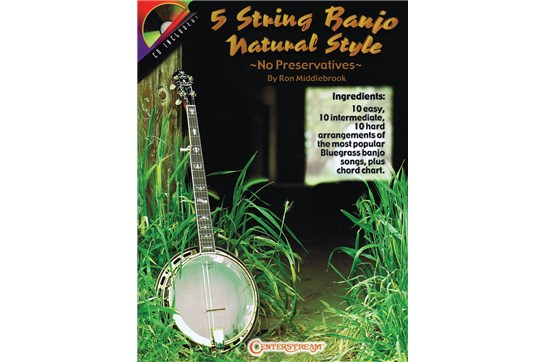 5 String Banjo Natural Style w/CD