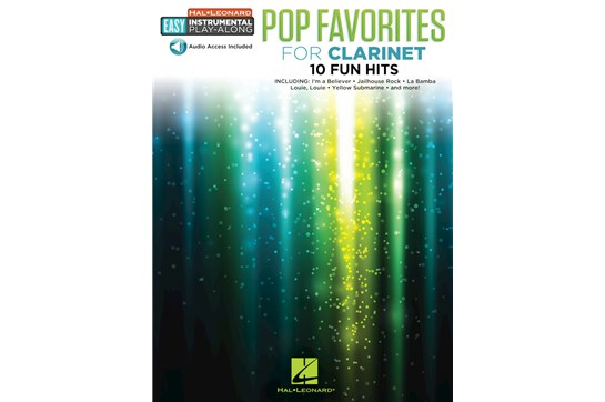 Pop Favorites Easy Inst Play Along - Clarinet