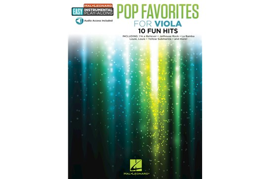 Pop Favorites Easy Inst Play Along Viola