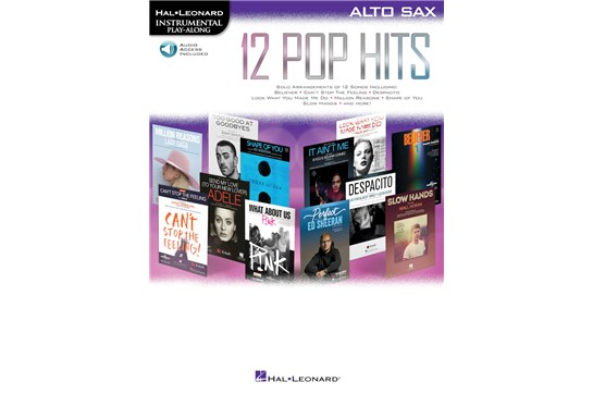 12 Pop Hits Alto Sax