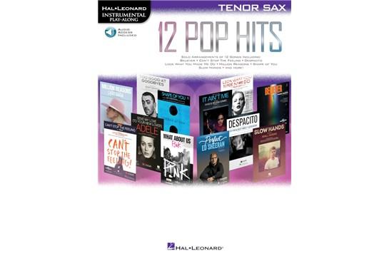 12 Pop Hits Tenor Sax