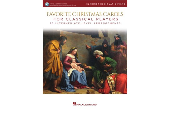 Favorite Christmas Carols For Classical Players (Clarinet and Piano)