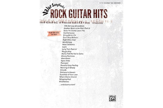 Value Songbooks Rock Guitar Hits