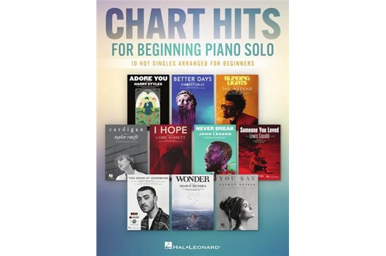Chart Hits for Beginning Piano Solo