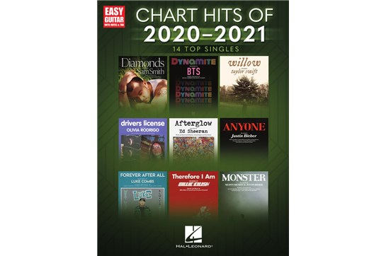 Chart Hits of 2020-2021 for Easy Guitar