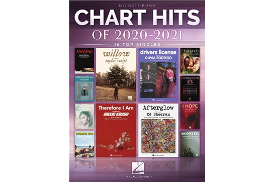 Chart Hits of 2020-2021: Top 16 Singles - Big Note Piano