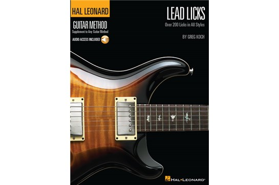 Lead Licks Guitar Method w/CD