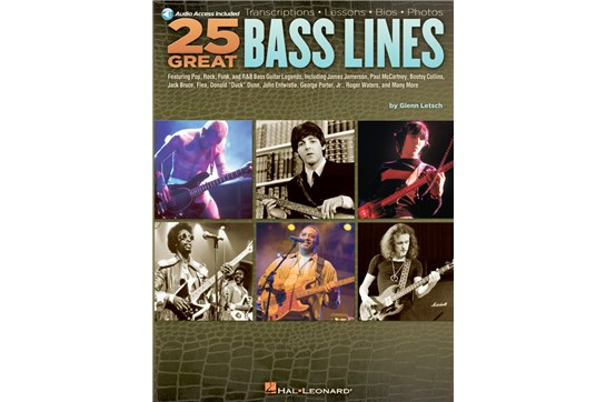25 Great Bass Lines w/CD