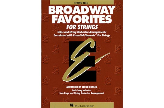 Essential Elements Broadway Favorites for Strings (String Bass)