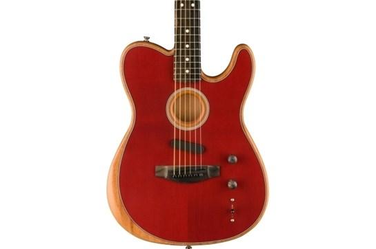 Fender Acoustasonic Telecaster - Crimson Red