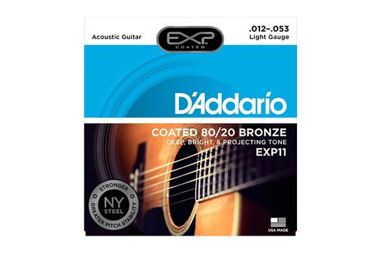 D'Addario EXP11 Light Acoustic Strings