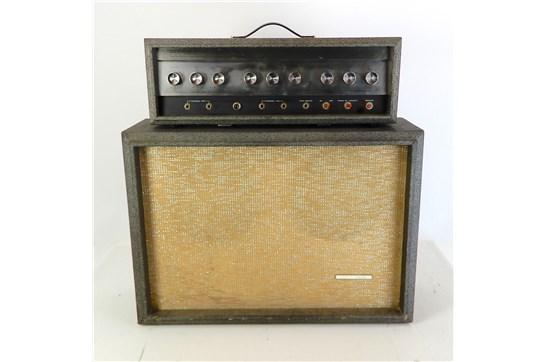 Silvertone 1484 Twin Twelve 60-Watt Head & 2x12 Piggy Back 1966 Grey - Used