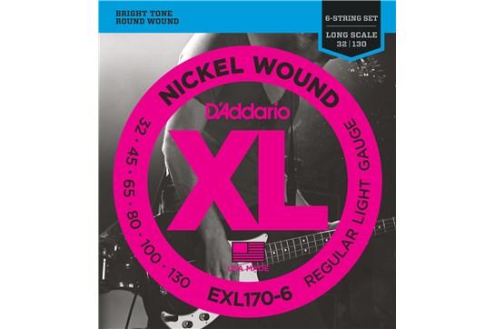 D'Addario EXL170-6 Light 6-String Bass Strings