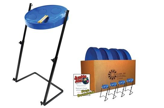 Panyard Jumbie Jam Steel Drum 4-Pack (Blue)