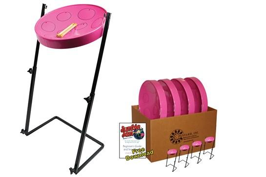 Panyard Jumbie Jam Steel Drum 4-Pack (Pink)