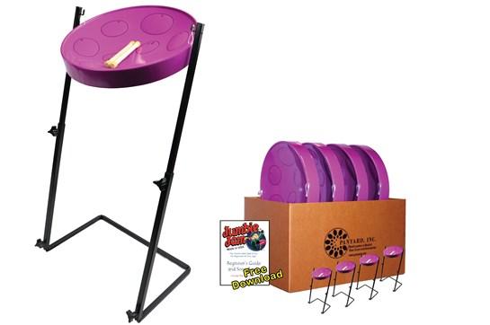 Panyard Jumbie Jam Steel Drum 4-Pack (Purple)