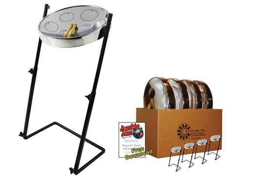 Panyard Jumbie Jam Steel Drum 4-Pack (Chrome)