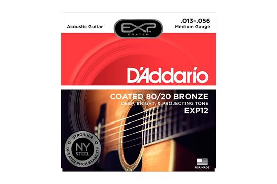 D'Addario EXP12 Medium Acoustic Strings