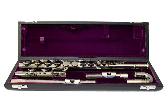 Used Trevor James Black Nickel Alto Flute (Curved Headjoint)