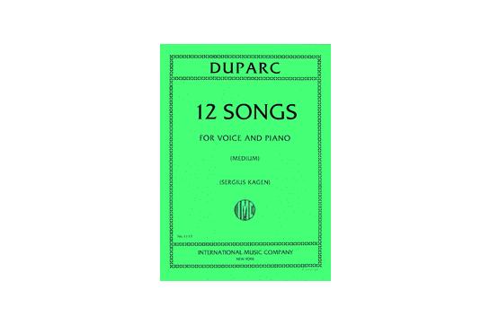 Twelve Songs for Medium Voice