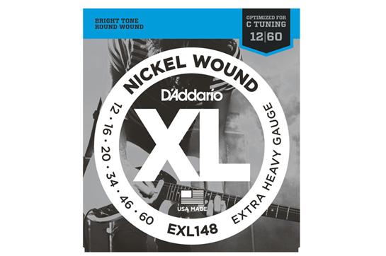 D'Addario EXL 148 Nickel Wound, Extra-Heavy, 12-60