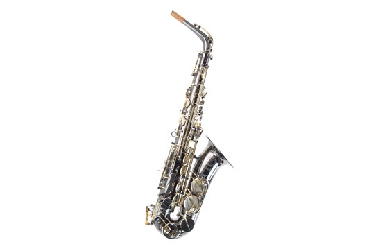 Used Cannonball A5-BS Alto Saxophone (Black Nickel Lacquer w/Silver Keys)