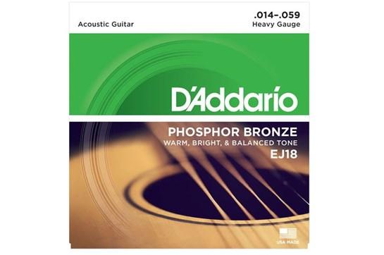 D'Addario EJ18 Phosphor Bronze Heavy Acoustic Strings 0.14-.059