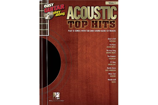 Acoustic Top Hits Easy Guitar Play Along (Vol. 2)