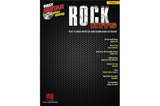 Rock Hits Easy Guitar Play-Along Volume 3