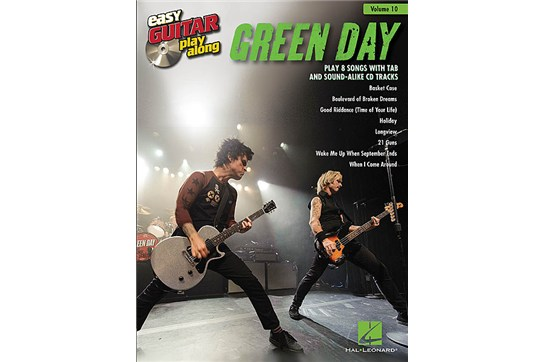 Green Day Easy Guitar Play-Along Volume 10