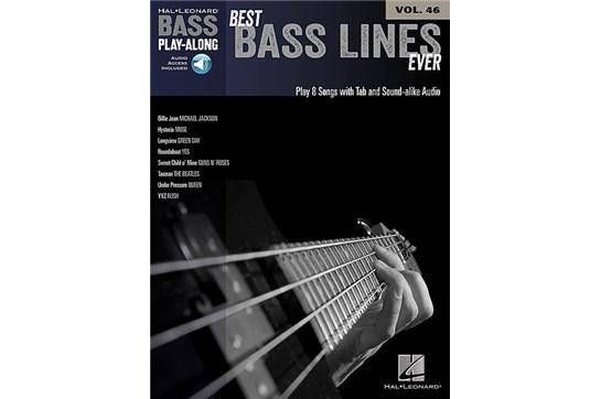 Best Bass Lines Ever Bass Play-Along Volume 46
