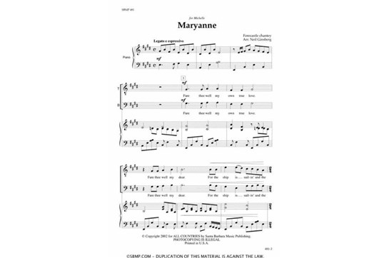 Maryanne - SATB