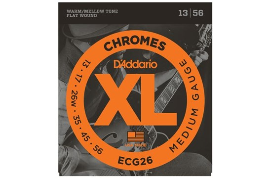D'Addario ECG26 Chromes Flatwound Medium Electric Strings .013-.056