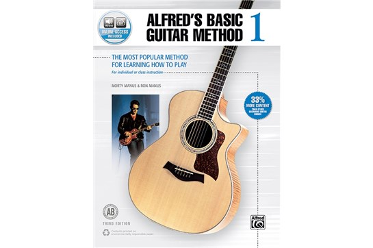 Alfred's Basic Guitar 1 Third Edition w/Audio and DVD