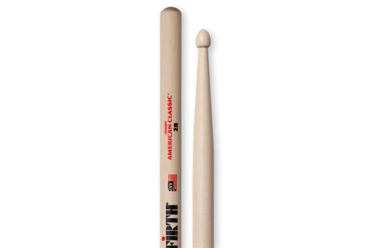 Vic Firth 2B Wood Tip Drumstick