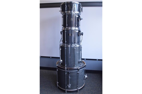1990s Mapex Mars Pro 5-pc Drum Set - Transparent Grey