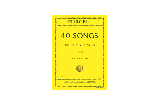 Forty Songs Complete in One Volume - Low