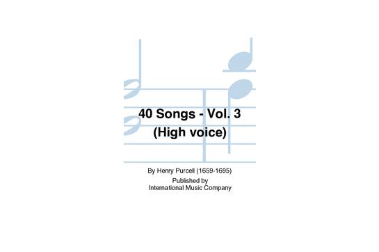 40 Songs - Vol. 3 (High Voice)
