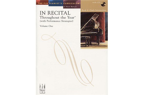 In Recital! Throughout the Year (with Performance Strategies) Volume One, Book 4