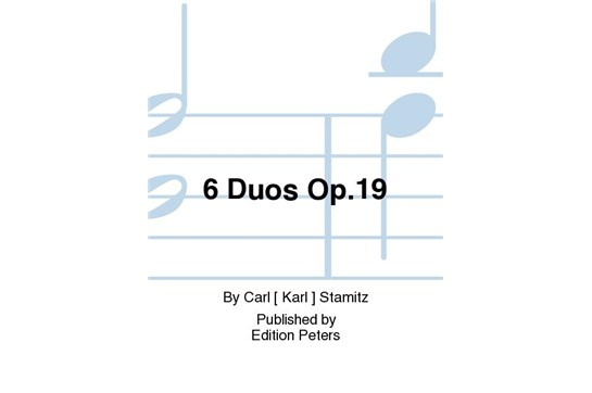 Six Duos Op. 19 for Violin and Violoncello