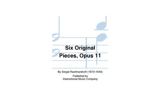 Six Original Pieces Opus 11 1 Piano 4 Hands