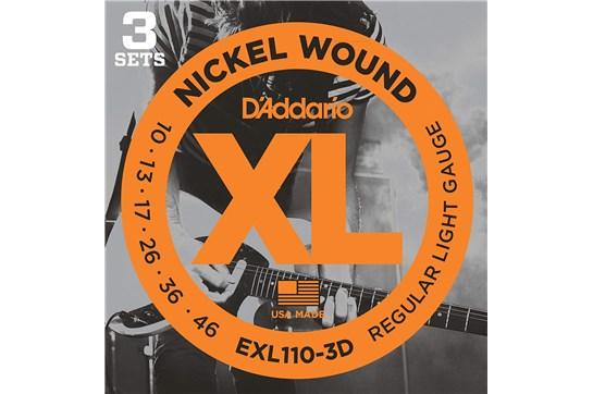 D'Addario EXL110-3D Light Electric Strings