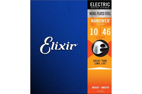 Elixir 12052 Nanoweb Nickel Light Electric Strings .010-.046
