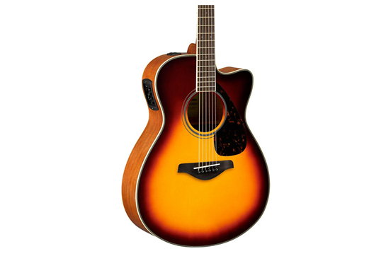 Yamaha FSX820C Small Body Acoustic-Electric Guitar (Brown Sunburst)