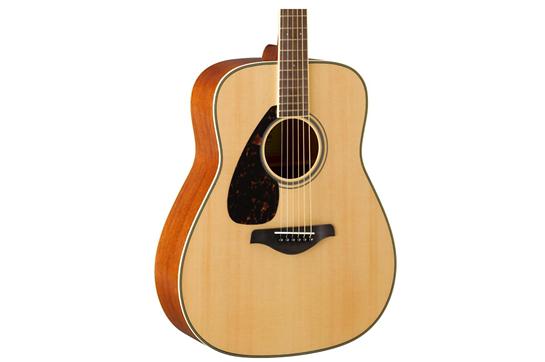Yamaha FG820 Left-Handed Acoustic Folk Guitar - Natural