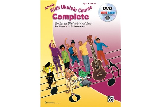 Alfreds Kids Ukulele Course Complete w/DVD and Online Audio/Video