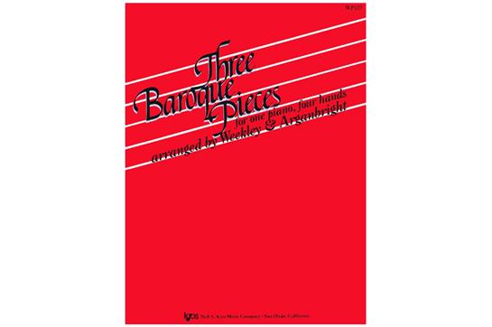 Three Baroque Pieces- Piano Duet (7112B7)