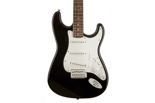 Squier Affinity Series Stratocaster Electric Guitar (Laurel Fretboard - Black)